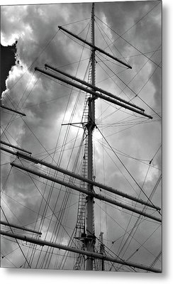 Tall Ship Masts Metal Print by Robert Ullmann