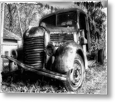 Tam Truck Black And White Metal Print by Marko Mitic