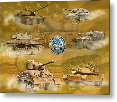 Tanks Four Metal Print by Ken Frischkorn