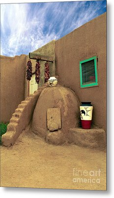 Taos Oven Metal Print by Jerry McElroy