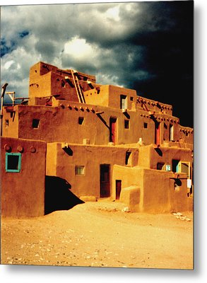 Metal Print featuring the photograph Taos Pueblo by Kathleen Stephens
