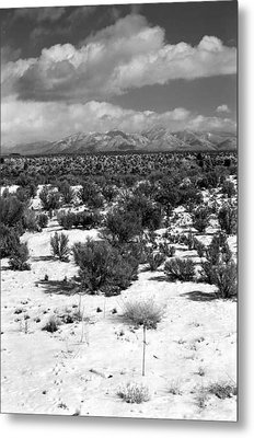 Taos Snowfall Metal Print by Susan Chandler