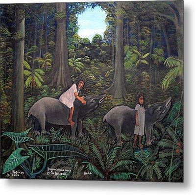 Tapir In The Jungle Metal Print