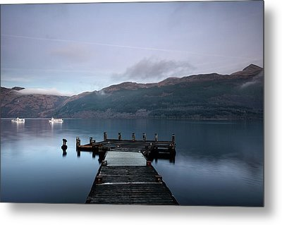 Metal Print featuring the photograph Tarbet Twilight by Grant Glendinning