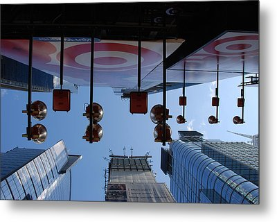 Target Lights Metal Print by Rob Hans