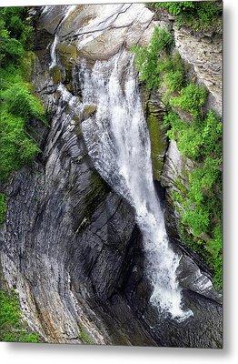 Taughannock Falls Upper Rim Trail Metal Print by Christina Rollo