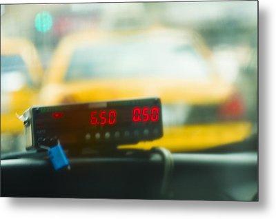 Taxi Meter Metal Print