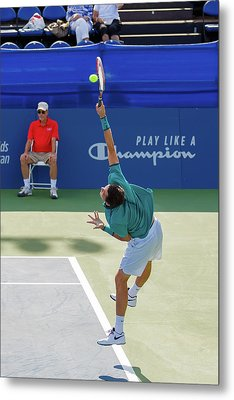 Taylor Fritz Plays In The Winston-salem Open. Metal Print