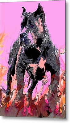 Metal Print featuring the painting Tbone by Tbone Oliver
