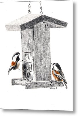 Tea For Two Metal Print by Wendy Mould