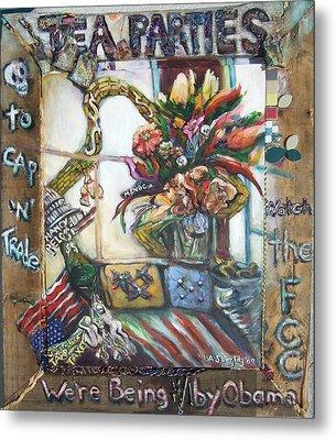Tea Parties Metal Print by Lee Anne Stieglitz