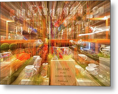 Metal Print featuring the photograph Tea Store Abstract by Stuart Litoff