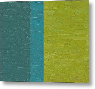 Teal And Olive  Metal Print by Michelle Calkins