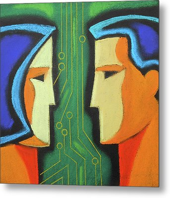 Technology And Intelligence Metal Print