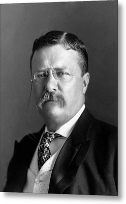 Teddy Roosevelt Portrait - 1904 Metal Print by War Is Hell Store