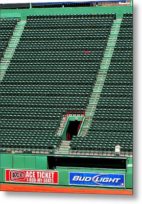 Ted's Red Seat In Context Metal Print