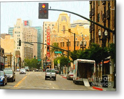Telegraph Avenue In Oakland California Metal Print by Wingsdomain Art and Photography