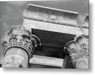 Metal Print featuring the  Temple Of Kom Ombo by Silvia Bruno