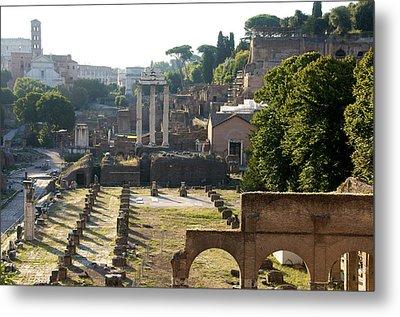 Temple Of Vesta. Arch Of Titus. Temple Of Castor And Pollux. Forum Romanum. Roman Forum. Rome Metal Print