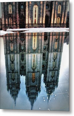 Temple Reflection Metal Print by Jim Hill