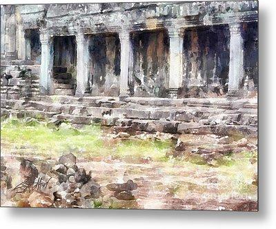 Temples At Angkor Metal Print by Shirley Stalter