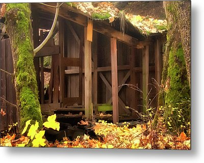 Temporary Shelter Metal Print by Albert Seger