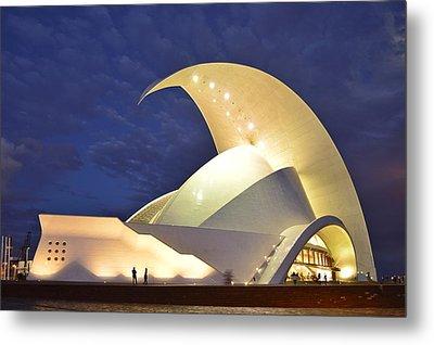 Tenerife Auditorium At Night Metal Print by Marek Stepan