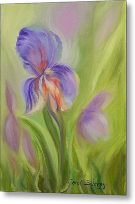 Metal Print featuring the painting Tennessee Iris Two by Carol Berning
