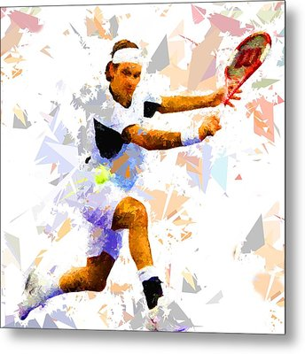 Metal Print featuring the painting Tennis 114 by Movie Poster Prints