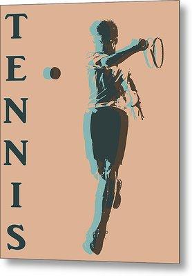 Tennis Player Pop Art Poster Metal Print