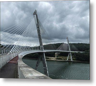 Terenez Bridge I Metal Print by Helen Northcott