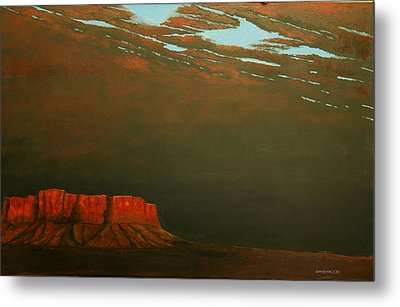 Metal Print featuring the painting Terra Rosa by Kerry Beverly