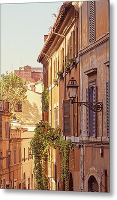 Metal Print featuring the photograph Terracotta - Rome Italy Travel Photography by Melanie Alexandra Price