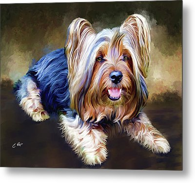 Terrier Metal Print by Ellens Art