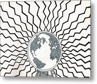 Tesla Changed The World Metal Print