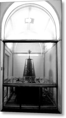 Tesla Coil Metal Print by Jera Sky