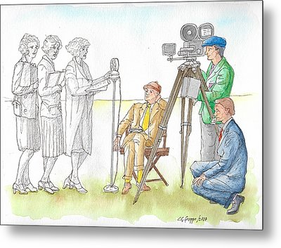 Testing Voices For The Talkies, C1930 Metal Print