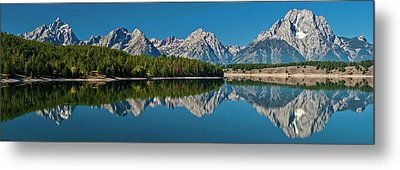 Metal Print featuring the photograph Teton Reflections by Gary Lengyel
