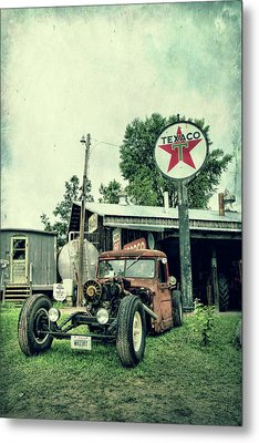 Texaco Metal Print by Joel Witmeyer