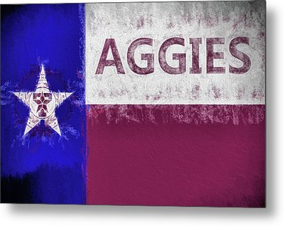 Texas Aggies State Flag Metal Print by JC Findley
