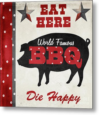 Texas Barbecue II Metal Print by Mindy Sommers