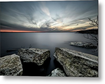 Texas Iceburgs @ Sunset Metal Print by Cathy Neth