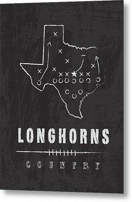 Texas Longhorns Country Metal Print by Damon Gray