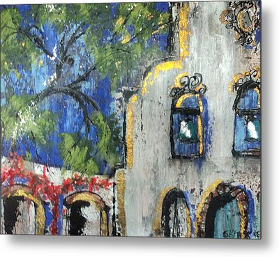 Texas Mission Metal Print by Suzanne Kfoury