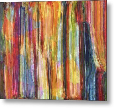 Textured Abstract Number 5 Metal Print