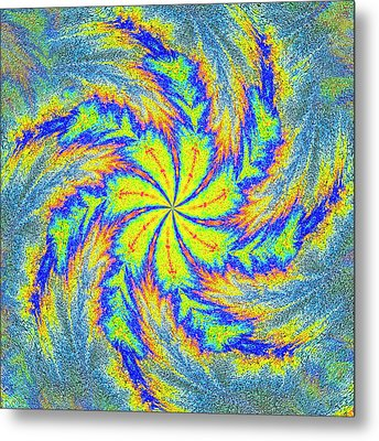 Textured Colors Metal Print