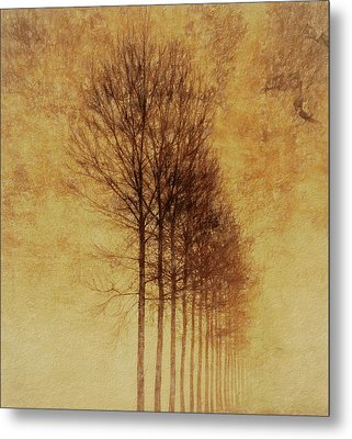 Textured Eerie Trees Metal Print