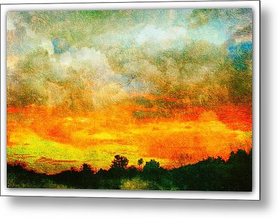 Textured Sunset Metal Print