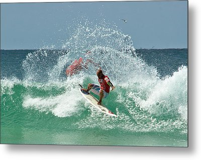 Metal Print featuring the photograph That Kelly Slater Wave Magic by Odille Esmonde-Morgan