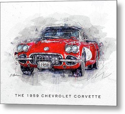 The 1959 Chevrolet Corvette Metal Print
